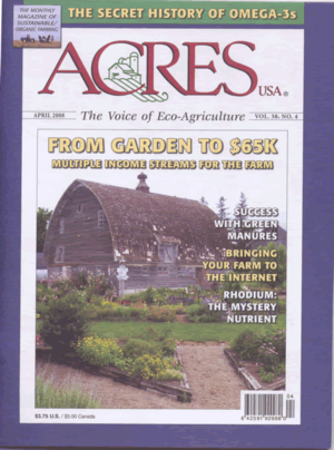 AcresUSA Cover April 2008
